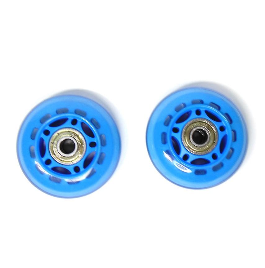 Kit 2 Rodinhas de Patins Abec 7 Pequena Roda de Silicone Azul (RA-A)