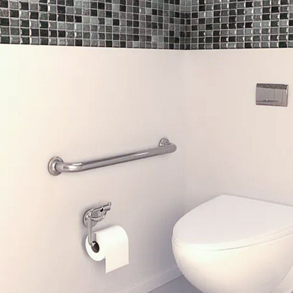 Kit 4 Alças Apoio Banheiro Acessibilidade Idoso Cadeirante Deficiente Inox