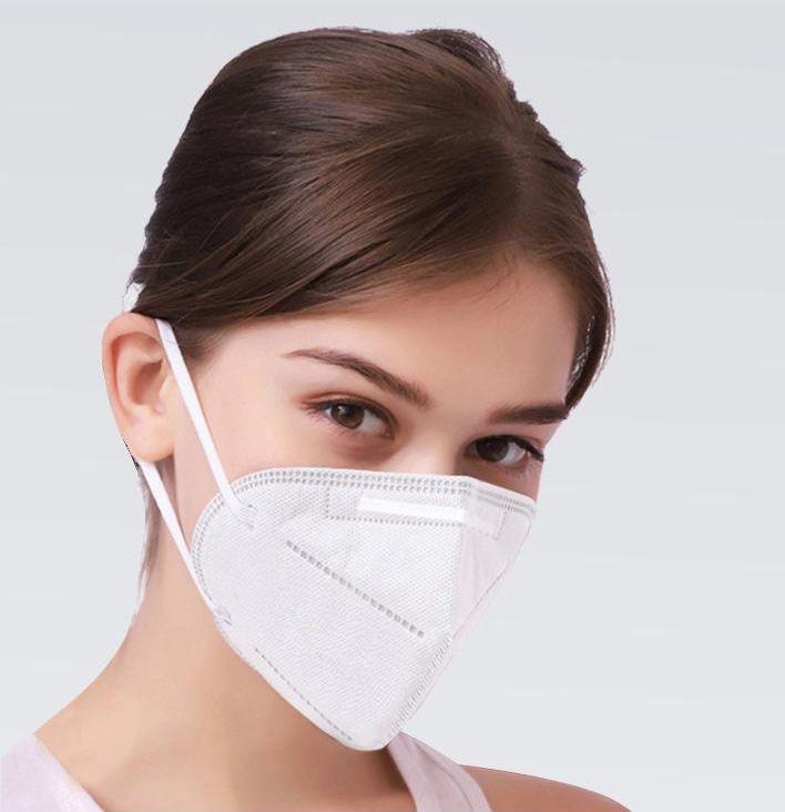 Kit 5 Uni Mascara KN95 Respiratoria Profissional Proteção PFF2 Respirador EPI N95