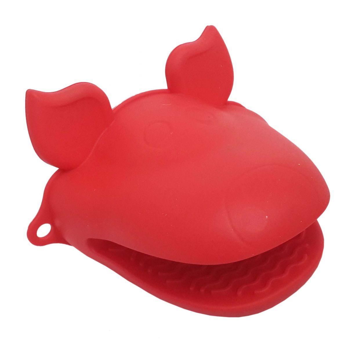 Kit 2 Luvas Termica De Silicone Pegador Fogao Forno Cozinha Par Vermelha (sili-8)
