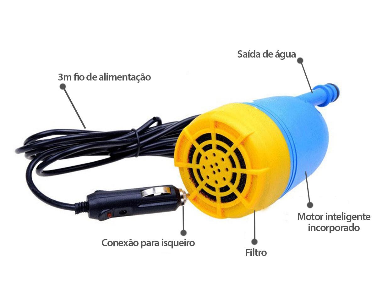 kit lavagem Automotivo Lava jato Bomba de Água Submersa Alta Pressão (BSL-23521-2 )