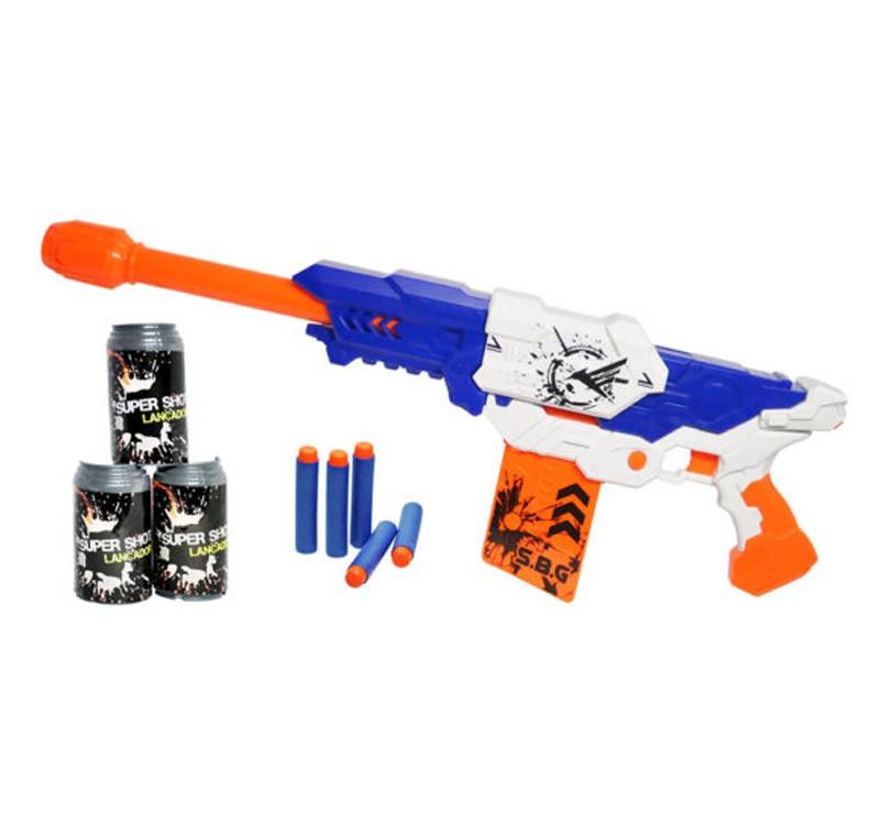 Lançador Master Brinquedo 60cm Super Shot 10 Dardos Azul (DMT5160)