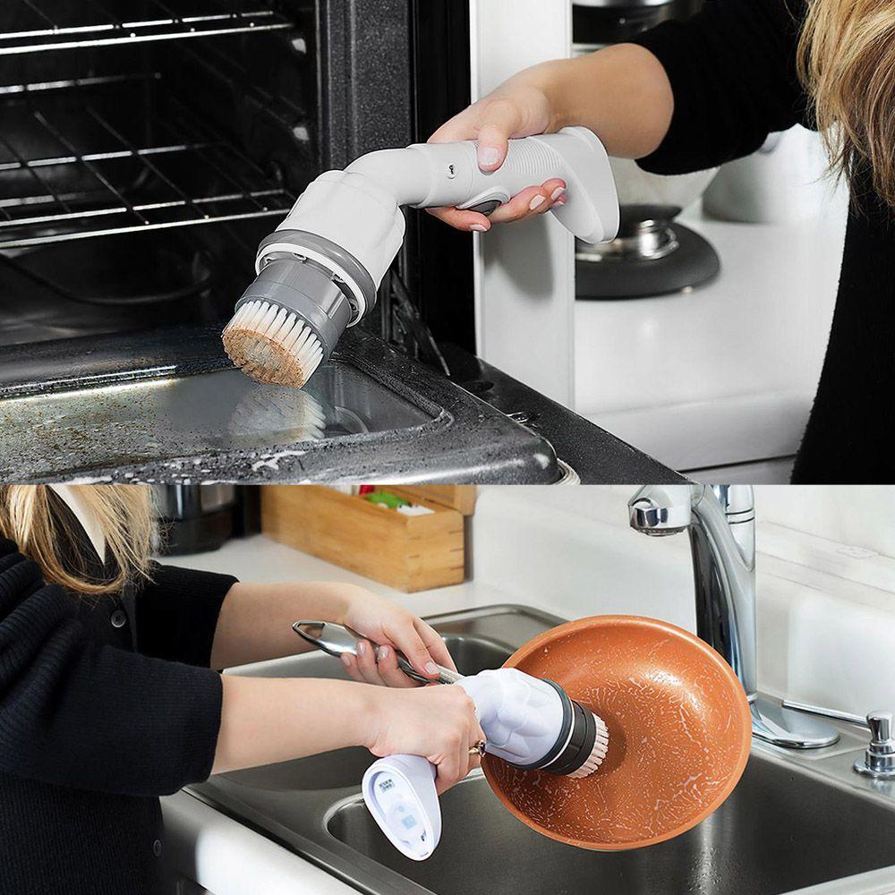 Limpador Esfregao Recarregavel Portatil Limpeza Cozinha Banheiro Carro Sem Fio