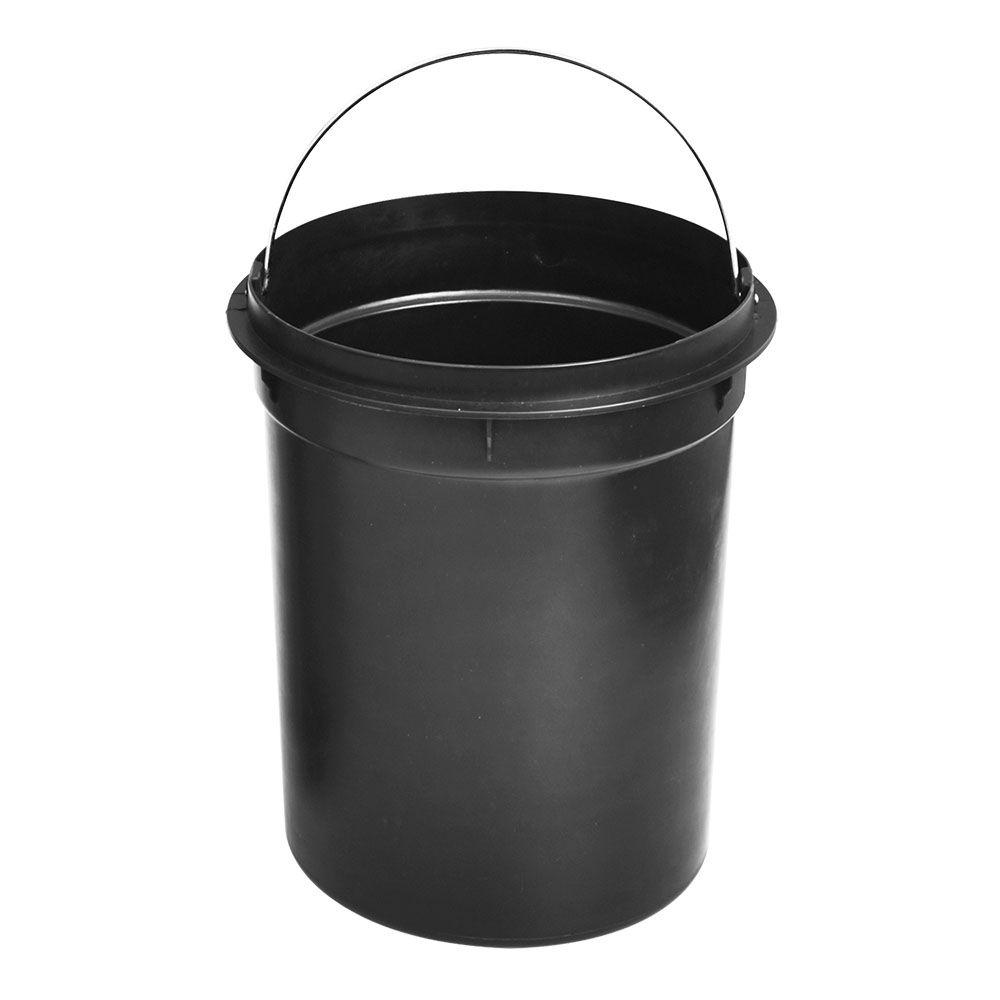 Lixeira Preto Fosco de Ferro Com Pedal Cesta de Lixo 12 Litros Casa