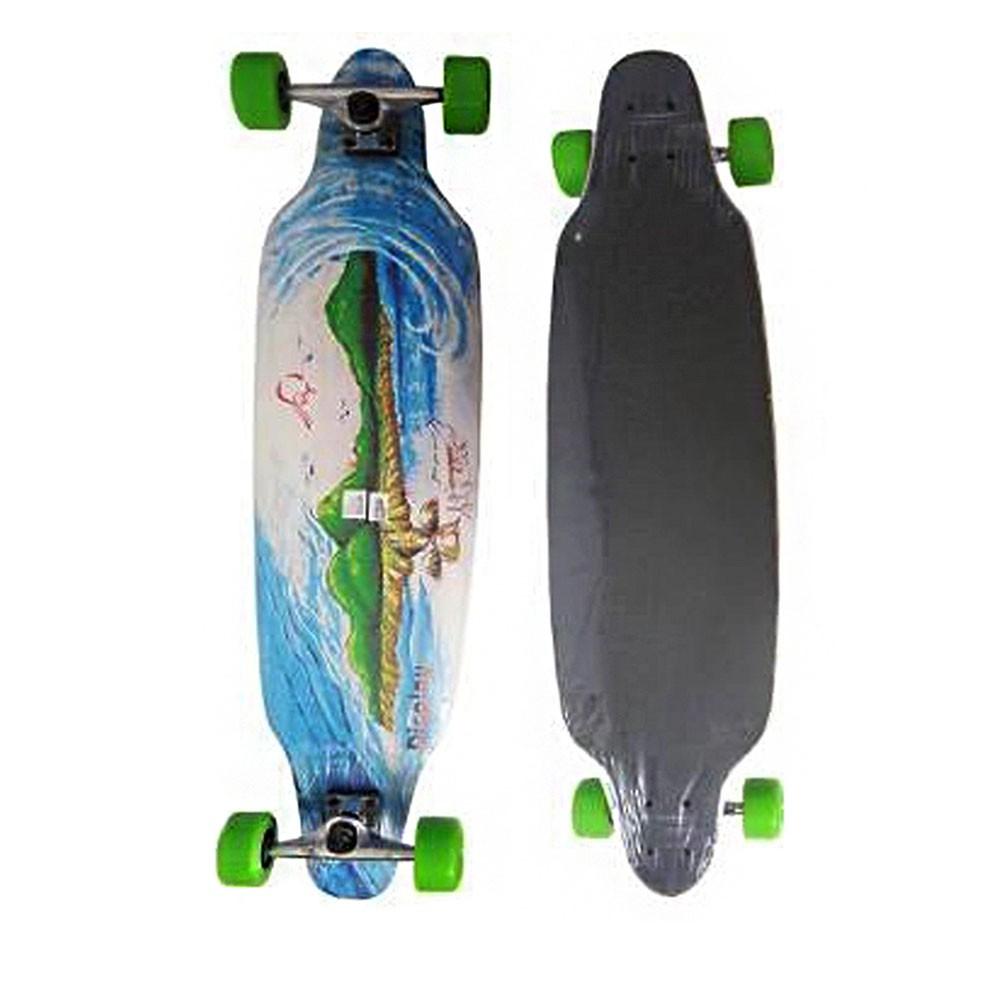 Longboard Skate Rolamento Abec Rodas Lixa Shape Esporte Exercicios