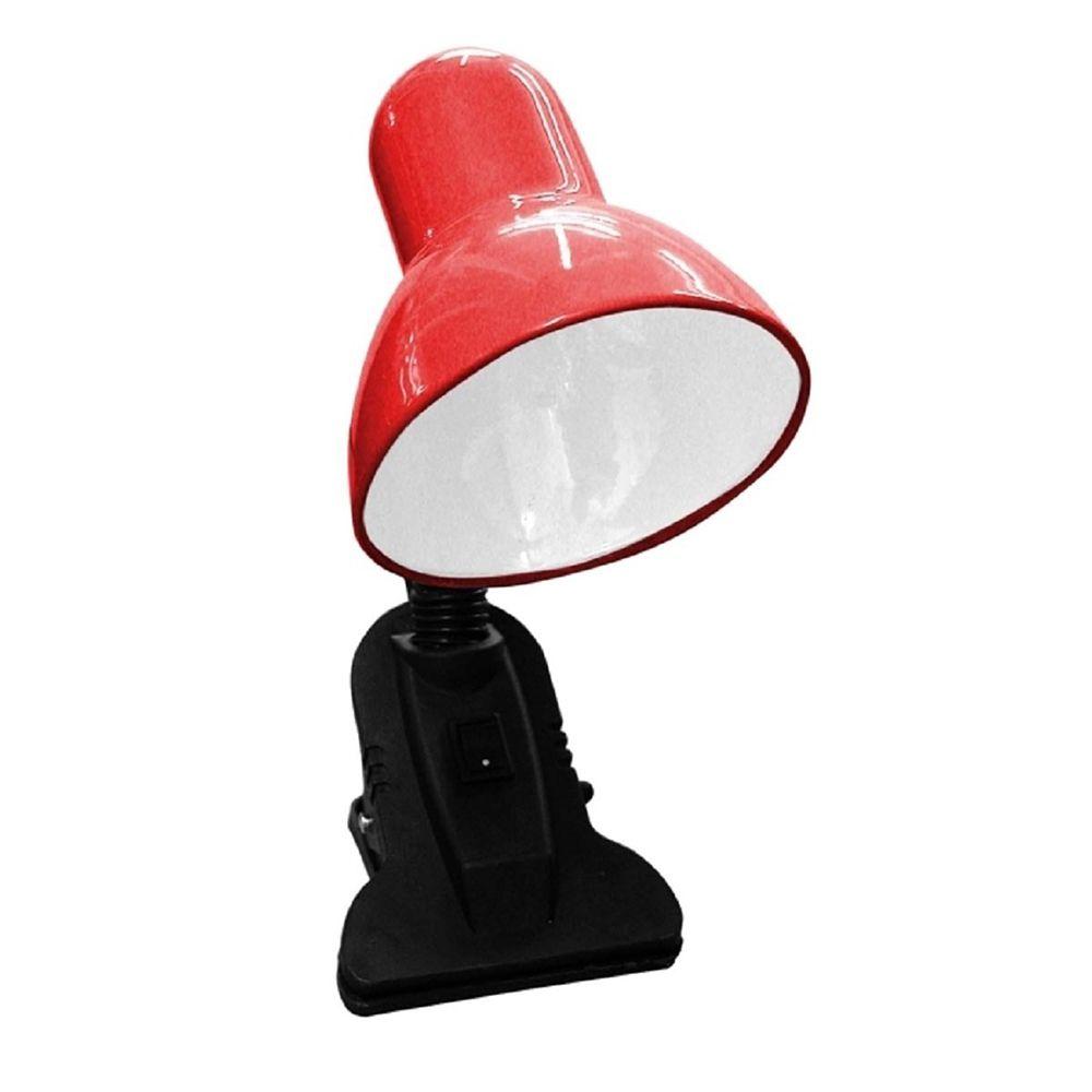 Luminaria De Mesa Com Garra Articulavel Escritorio Presilha Sala Trabalho Abajur