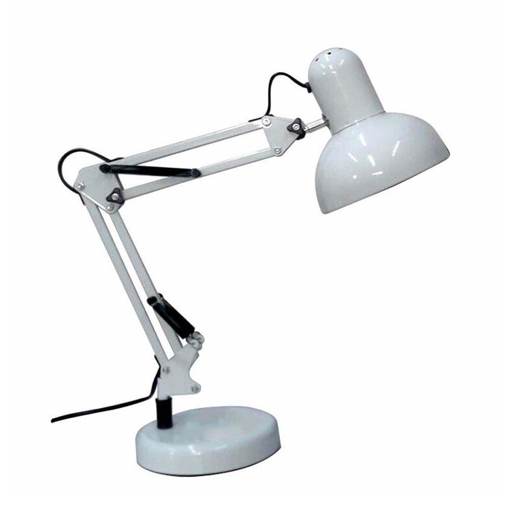Luminaria Robo 2 em 1 Articulada Mesa e bancada com Base Garra Home Office Computador
