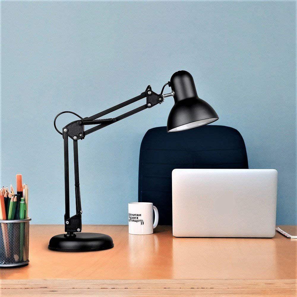 Luminaria Robo Articulada de Mesa com Base Garra Computador Home Office