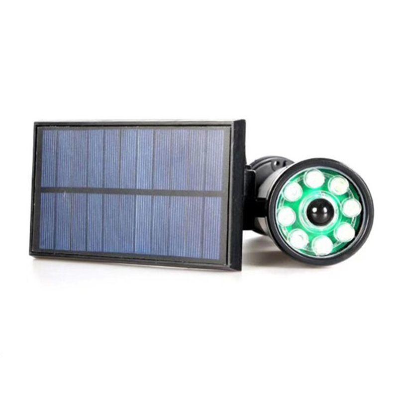 Luminaria Solar Camera Falsa Com Sensor de Presença Painel Recarregavel Luz Segurança Casa