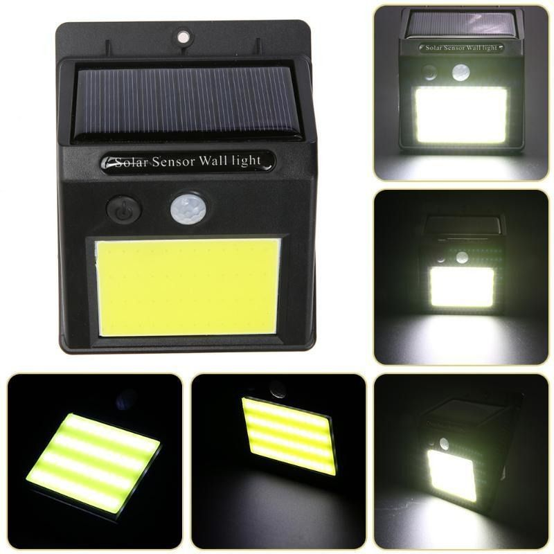 Luminaria Solar De Led Sensor Movimento Lampada 48 Leds Parede