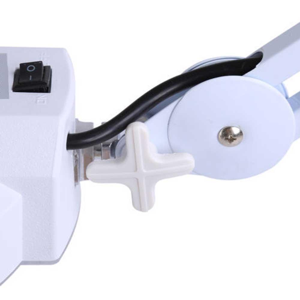 Lupa Estética Luminária Led Tripé Rodinhas Vidro Óptico Articulável 220v (BSL-LUPA-1)
