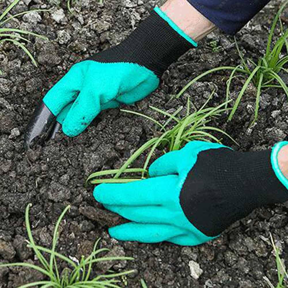 Luva de Jardinagem Resistente Com Garras Protege Cava Planta Garden Genie Gloves (Abm / 888164)