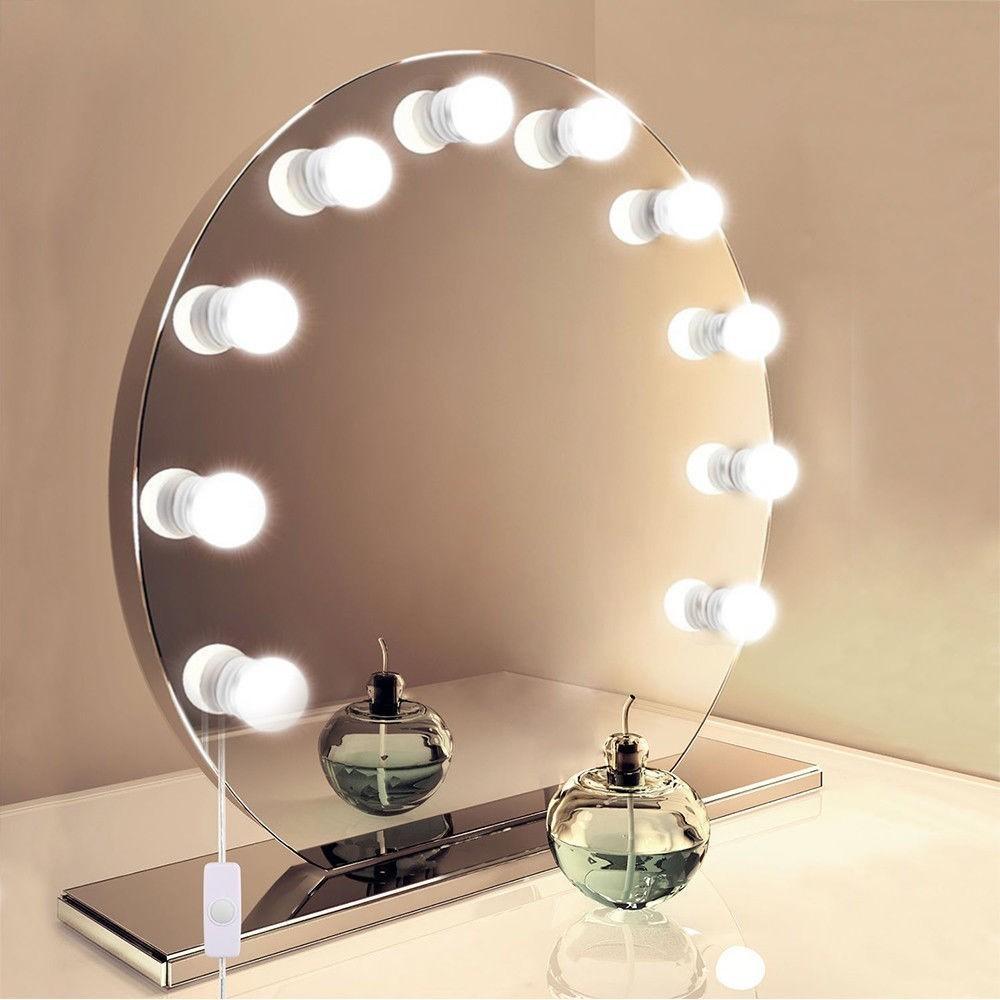 Luz de Espelho Maquiagem Usb Make Led Studio 3 Cores Camarim Regulavel