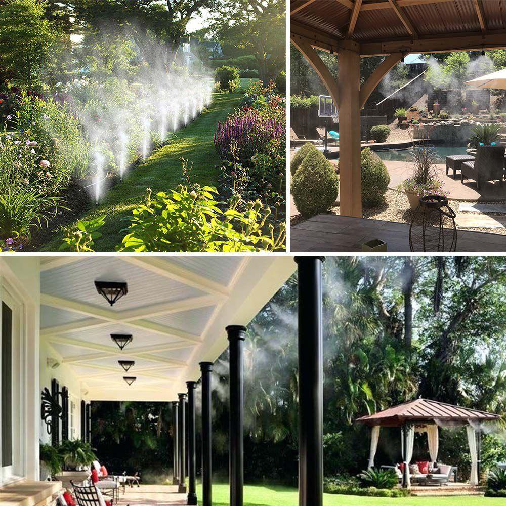 Mangueira Climatizadora Nevoa Sistema Irrigacao Kit 10 M Jardim Quintal Grama