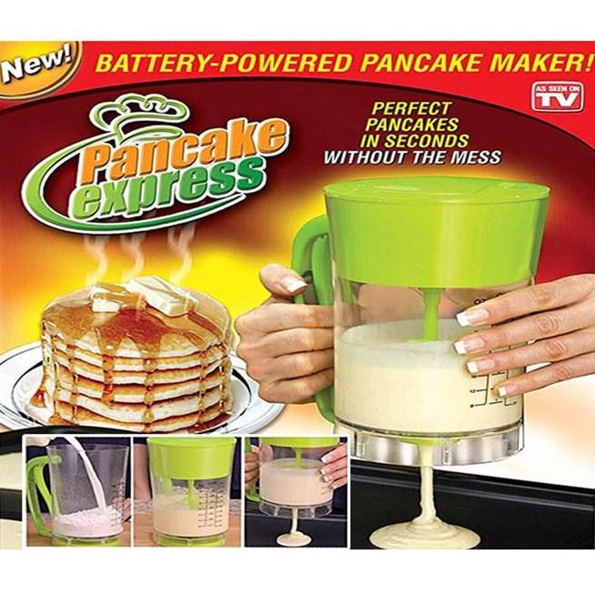 Maquina de Panqueca Dispenser Cupcake Eletrica Waffle Pancake Express