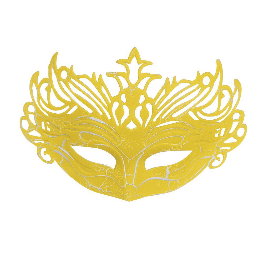 Mascara Fantasia Carnaval kit 6 uni Amarelo Festa Evento Baile Halloween