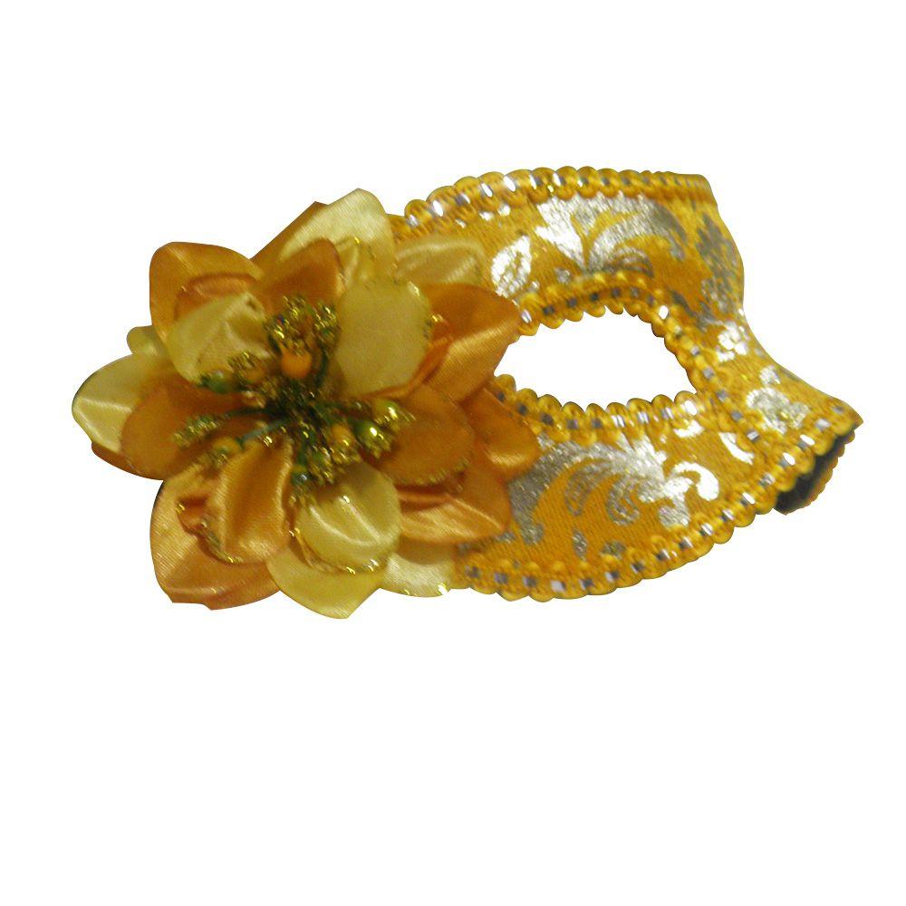 Mascara Fantasia Carnaval kit 6 uni Festa Eventos Baile Amarelo