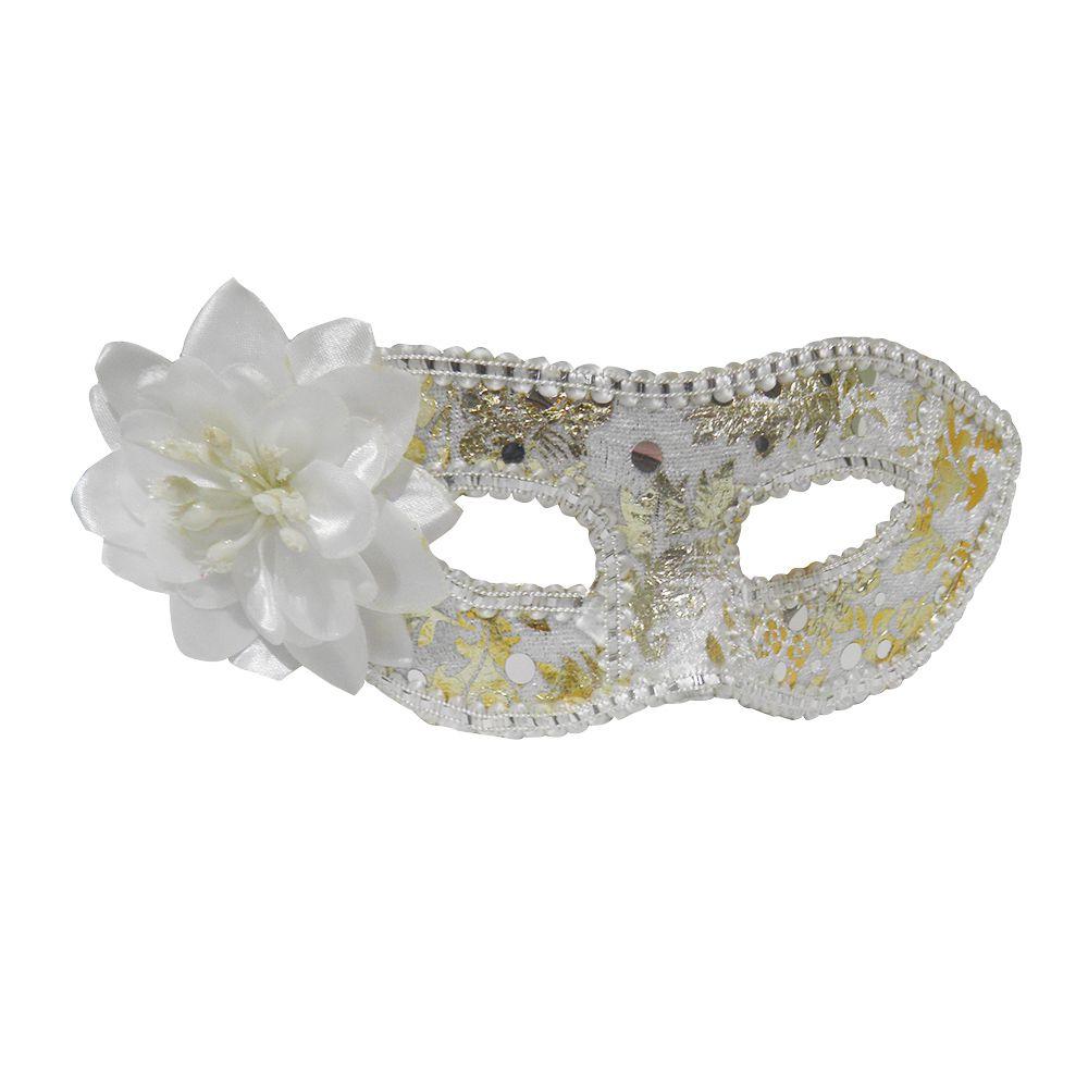 Mascara Fantasia Carnaval kit 6 uni Festa Eventos Branco
