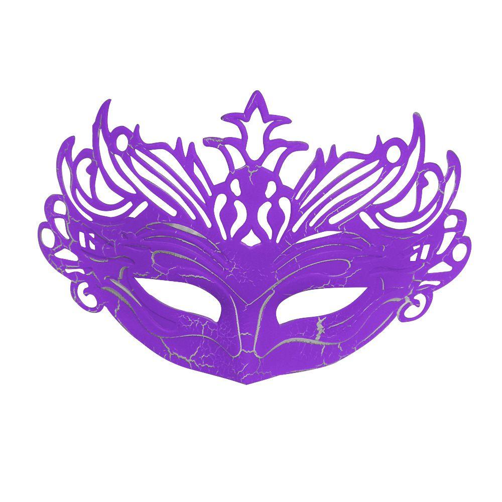 Mascara Fantasia Carnaval kit 6 uni Roxo Festa Evento Baile Halloween