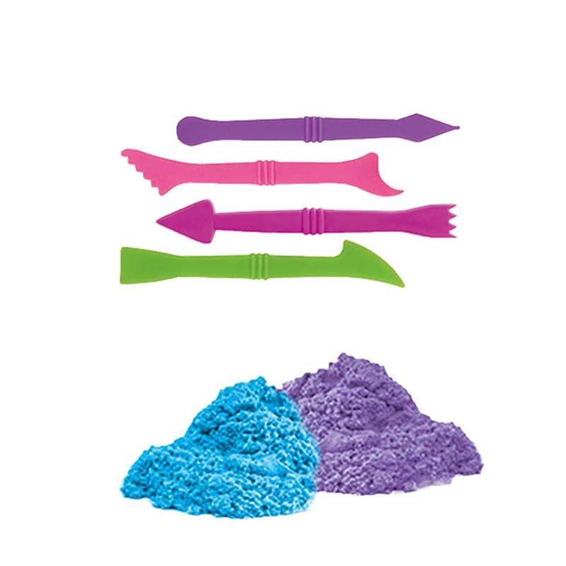 Massinha Areia de Modelar Divertida Bichinhos 600g 10 Forminhas 4 Acessorios (DMT5127)