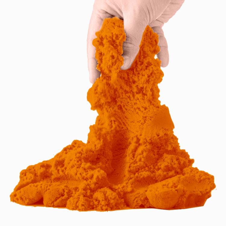Massinha Areia de Modelar Magica Divertida 150g 3 Moldes Fruta Colorido (DMT5124)