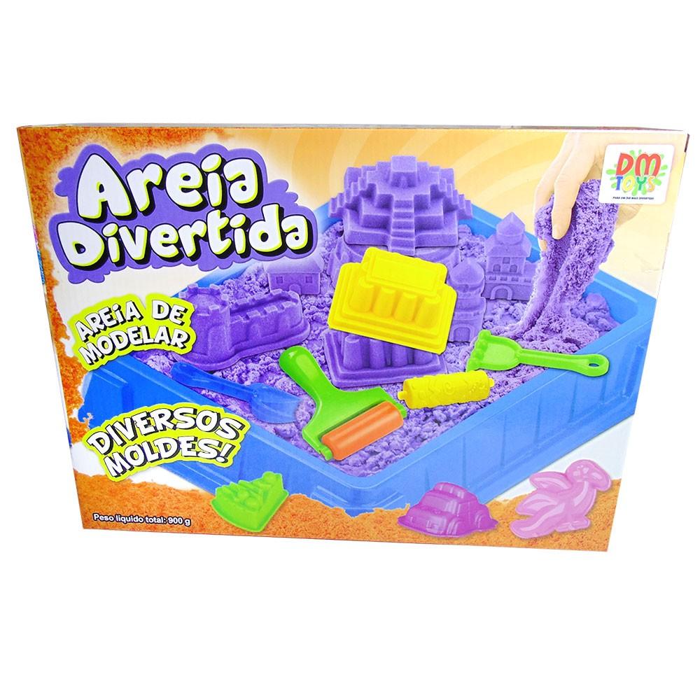 Massinha de Modelar Dinossauro Areia Divertida 900g Colorido 10 Moldes (DMT5122)