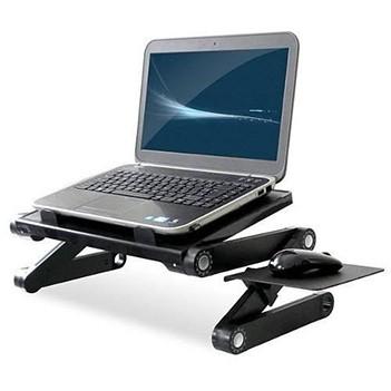 Mesa Multifuncional Para Notebook Com Cooler Dobravel Cor Preta (BSL-MESA-3 / D2348)