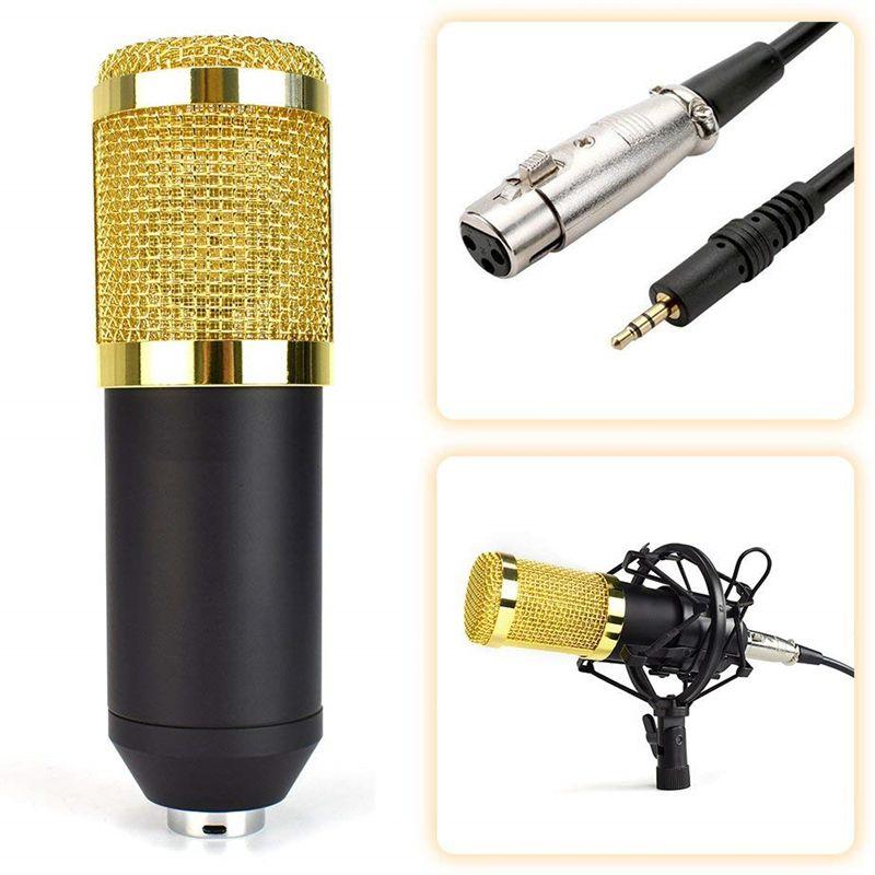 Microfone Condensador Estudio Profissional Notebook Celular Gravaçao Youtube
