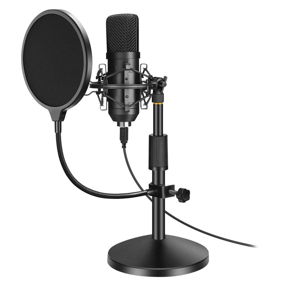 Microfone Condensador Unidirecional Youtuber Profissional Estudio Audio Gravaçao Musica Radio Home Studio