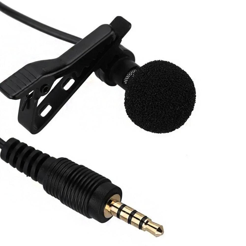 Microfone de Lapela Profissional Celular Gravaçao Audio Youtuber Jornalista Reportagem Palestra Evento Professor Smartphone