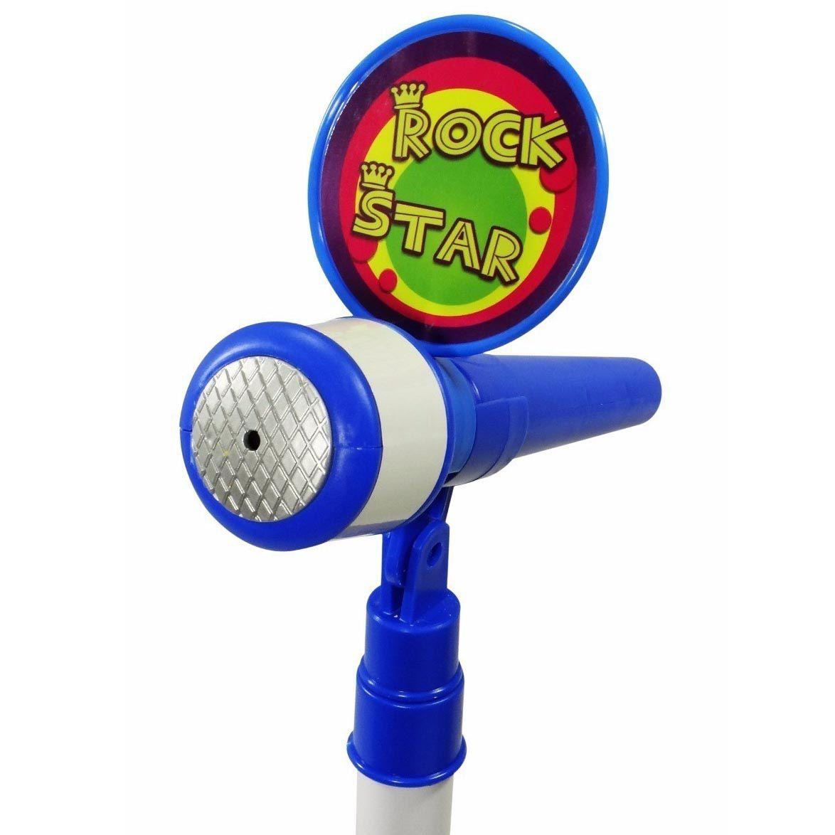Microfone Karaoke Infantil Led Som Luz Musica Brinquedo Mp3