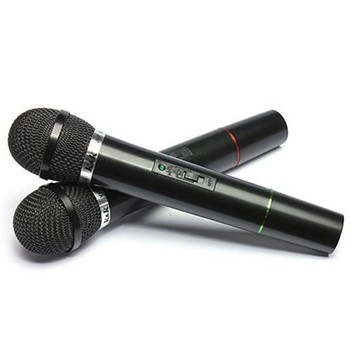 Microfone Sem Fio Com Receptor Wireless Para Karaoke Aula Profissional (BSL-HEL-3)