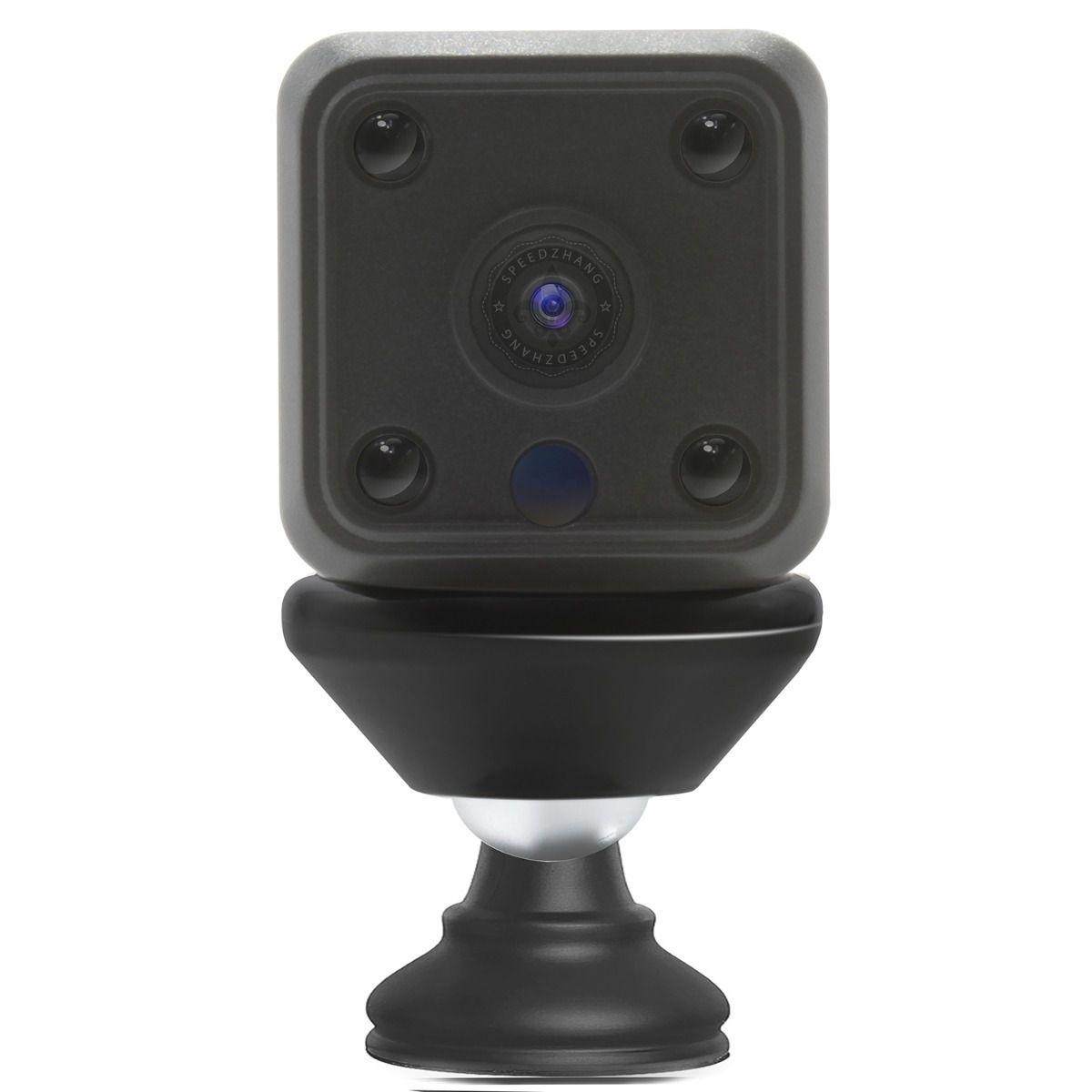 Mini Câmera Ip Hd Grava Detecção Movimento Sem Fio Wifi Audio Visão Noturna