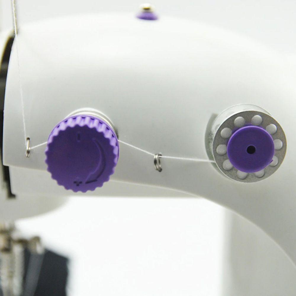 Mini Maquina De Costura Domestica Luz LED Portatil Bivolt Compacta