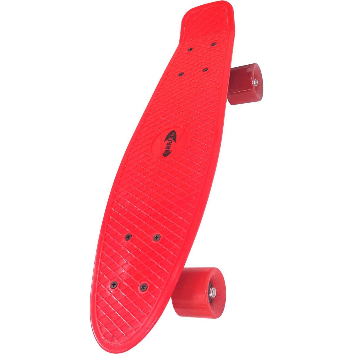 Mini Skate Profissional Com Truck Blindado Rodas Shape Abec 7 Cor Vermelho (SKT-2)
