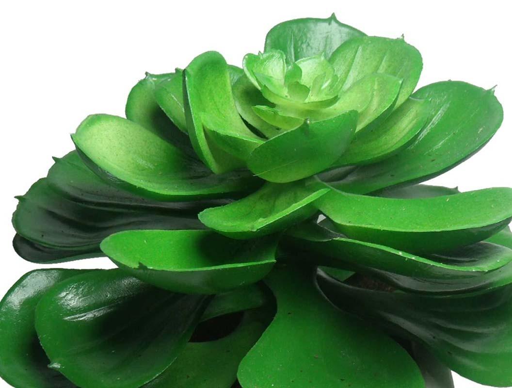 Suculenta Planta Artificial Com Vaso Branco Decoracao Festa Jardim Verde (SH-2 MOD1)