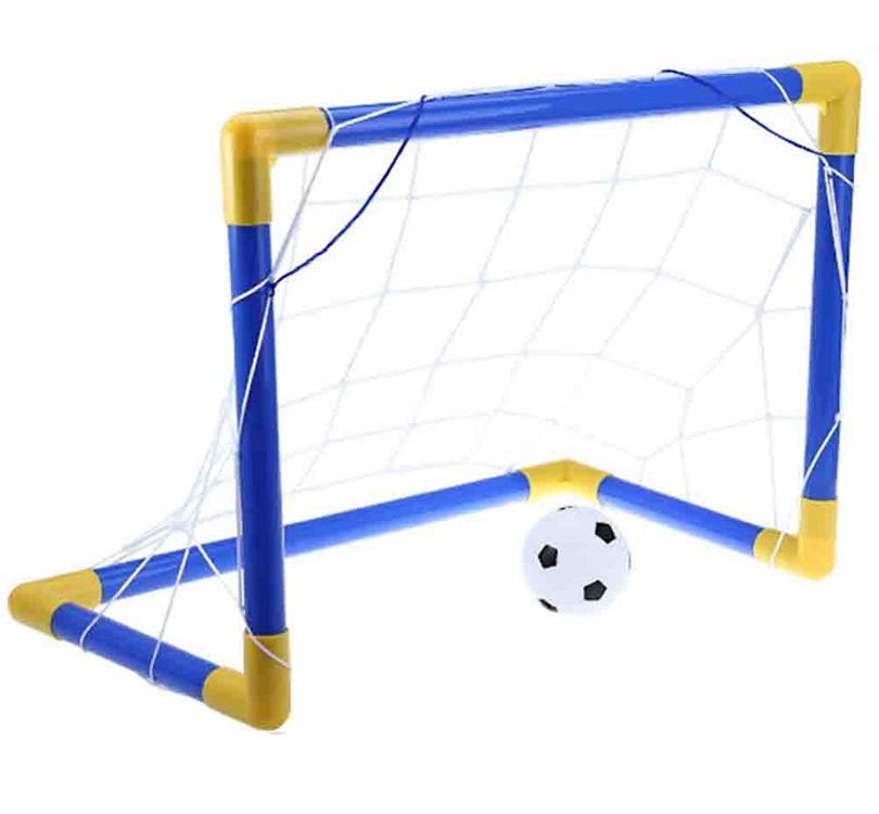 Mini Trave Kit Golzinho Infantil Bola de Futebol e Rede (DMT5076)