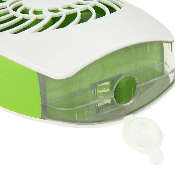 Mini Ventilador Climatizador Umidificador Para Casa Com Bateria Recarregavel Verde Portatil (VEN-2)