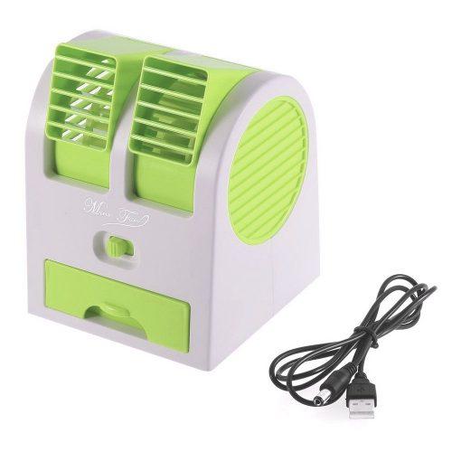 Mini Ventilador USB Portatil com Aroma Climatizador Com Agua VERDE (HB-168 Verde)