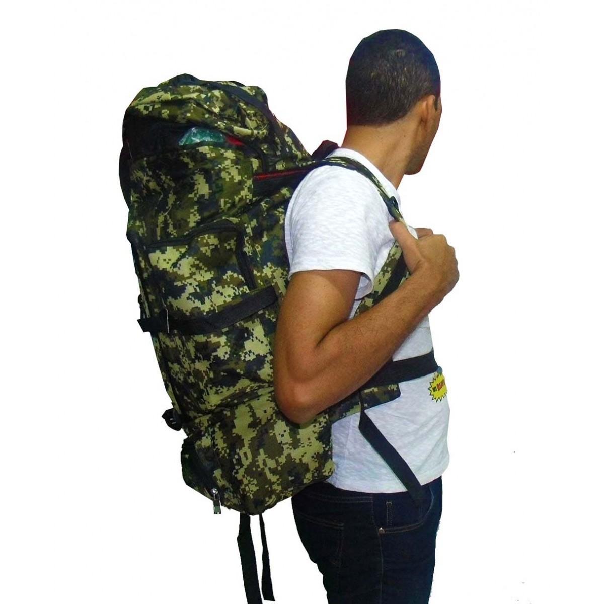 Mochila De Camping Camuflada Militar Impermeavel Para Viagem Trilha Passeio Carga Verde (BSL-21296-3)