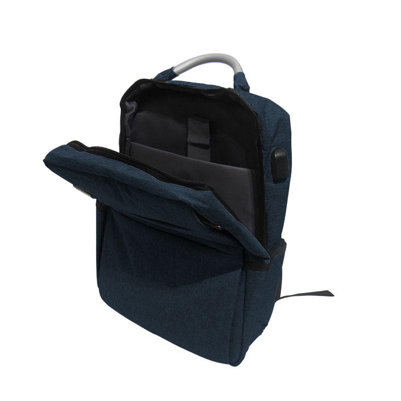 Mochila Notebook Anti-Roubo Masc Fem USB Furto Ajustavel