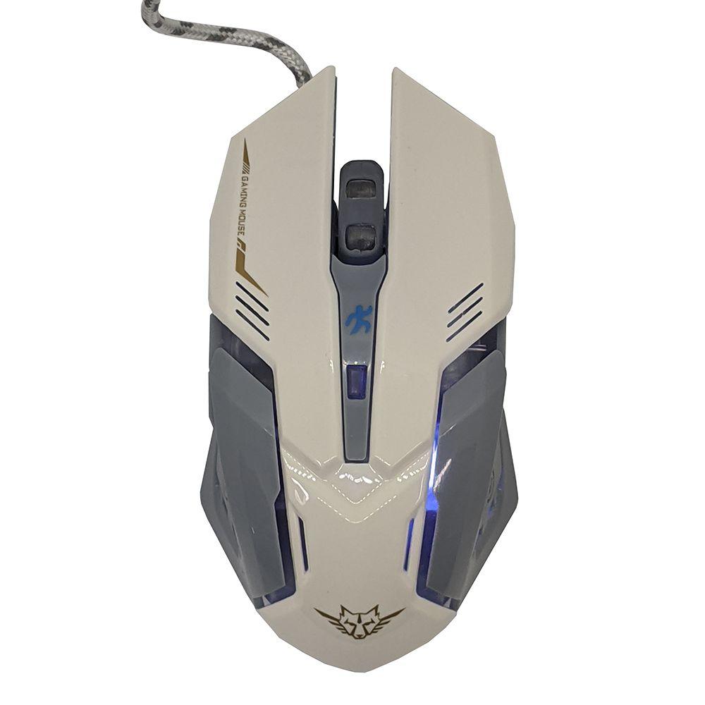 Mouse 5 Botões 3200 Gamer ergonomico dpi jogo Iluminação Led RGB alta precisão