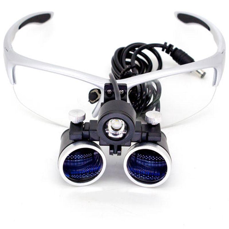 Oculos Lupa 3,5x Cabeca Led Medico Cirurgico Maleta Dentista