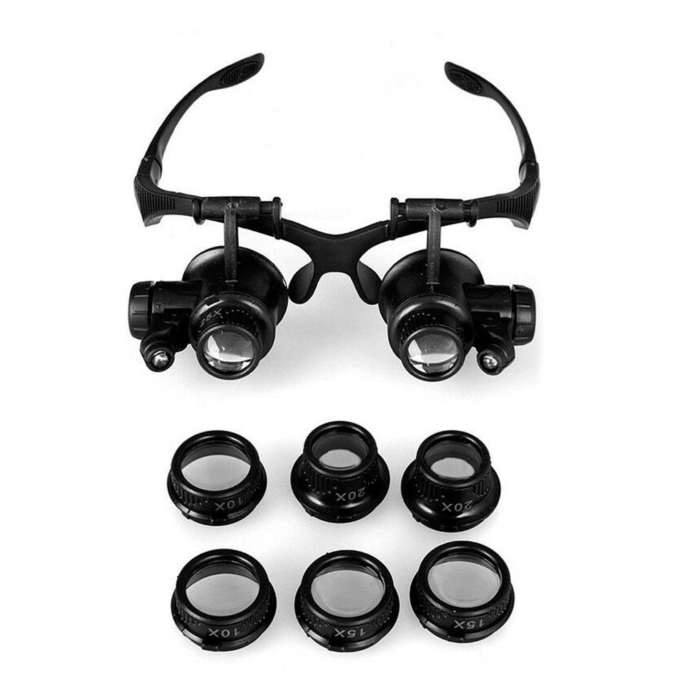 Oculos Lupa Aumento 4 Lentes Reparos Consertos Celular Relogio Joias