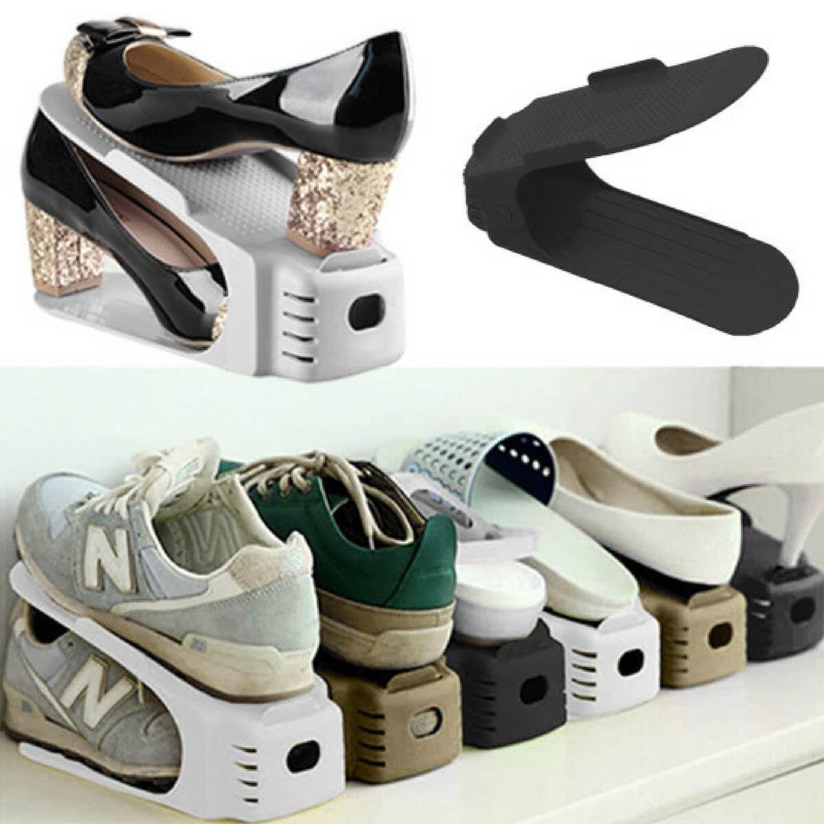 Organizador De Sapatos Tenis Kit 6 Sapateira Casa Armario