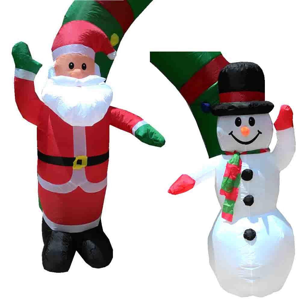 Papai Noel Boneco de Neve Inflavel Natal Natalino Arco 2 metros e 55cm