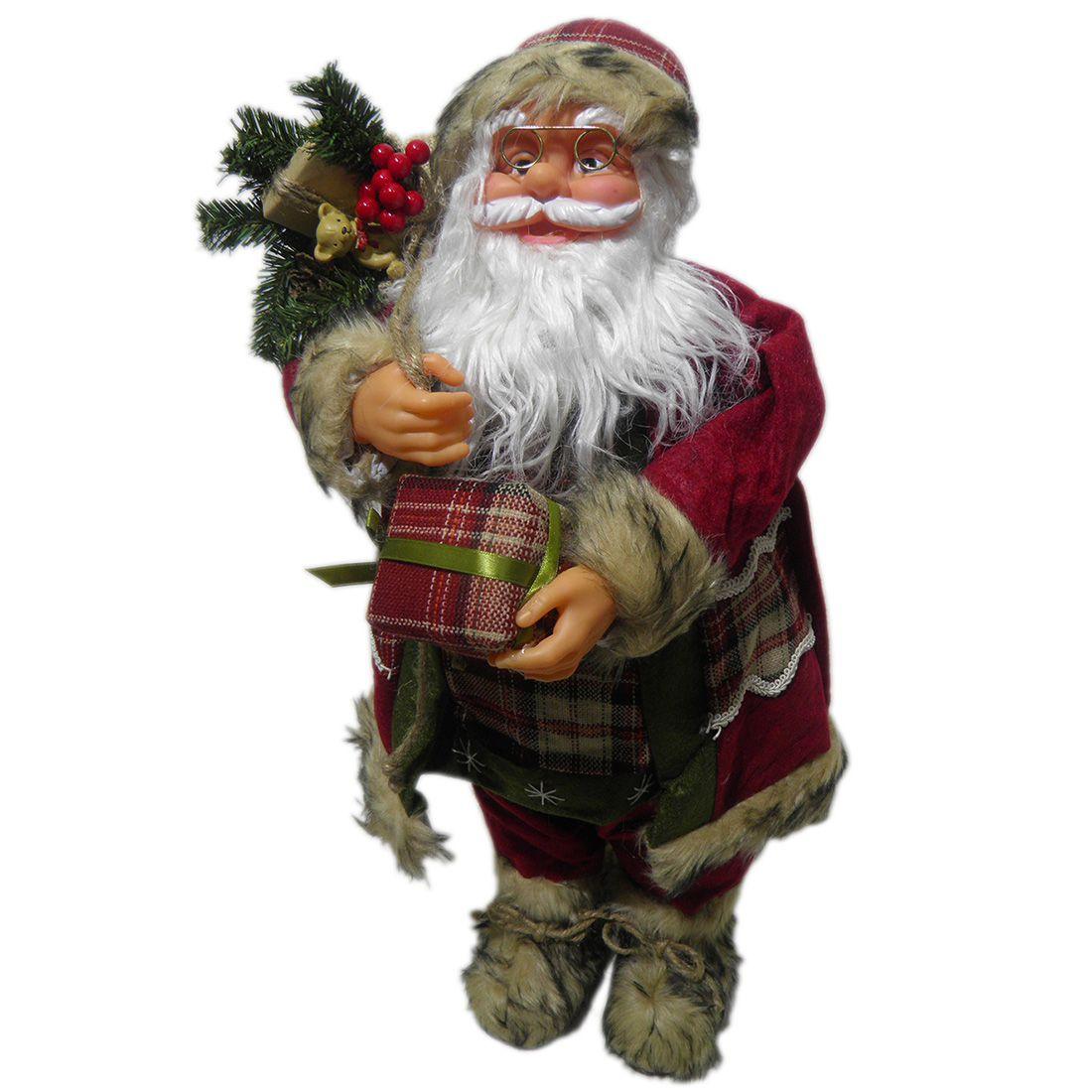 Papai Noel de Luxo Natal Boneco Natalino 65cm Decoracao Presente