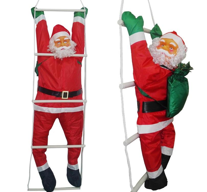 Papai Noel Escada Natal Decoracao Grande Natalino 1,58m