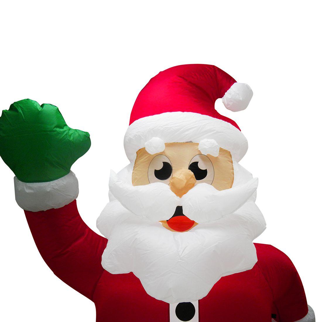 Papai Noel Gigante Inflavel Natal Presente e Urso Decoracao Natalina 2 metro e 40cm