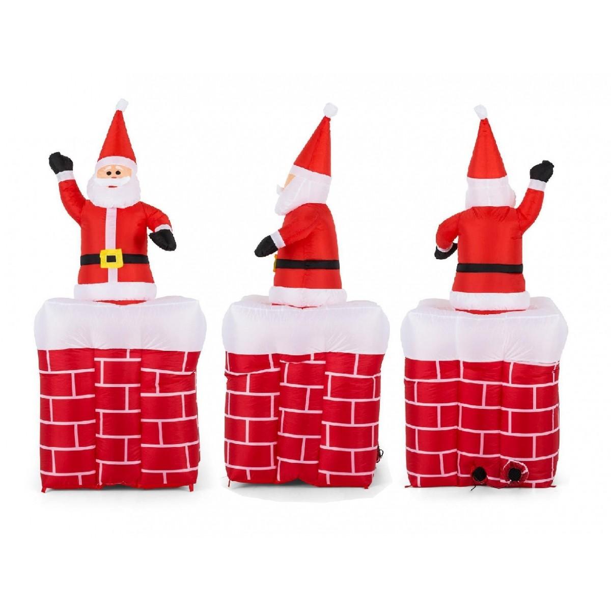 Papai Noel Inflavel De Natal Sobe E Desce Grande Natalino (PW103)